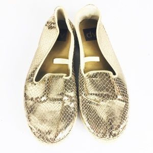 Dolce Vita Gold Metallic Slip On Espadrilles Shoe
